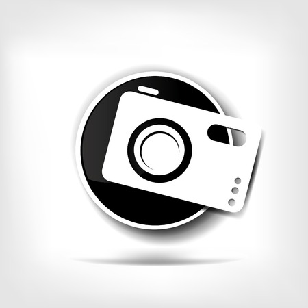 Photo camera web icon Stock Vector - 23097026
