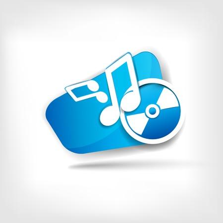 Music web icon Vector
