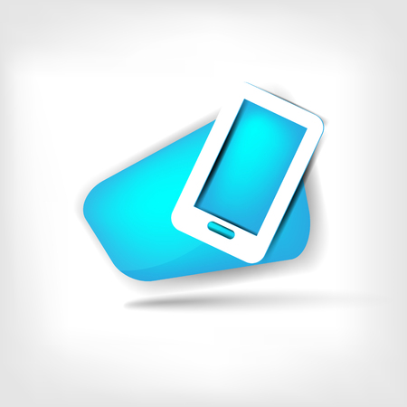 get in touch: Phone web icon Illustration