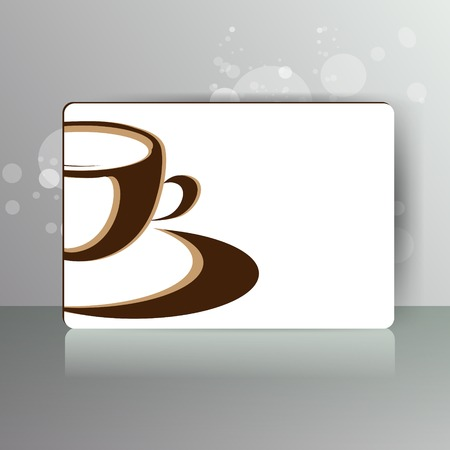abstractcard with ?up of coffee or tea Vector