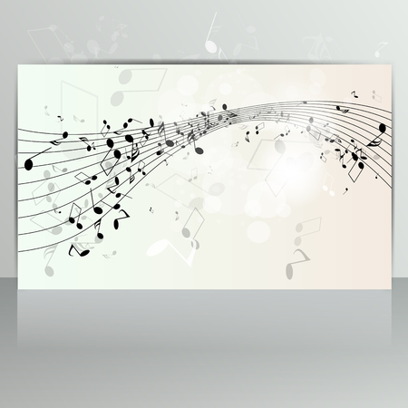 musical event: Card with abstract background with music notes