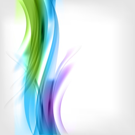blue and green background: Abstract colored wave on background