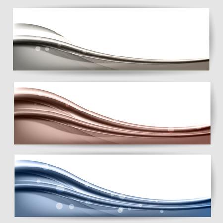 波とラインで抽象的な背景  イラスト・ベクター素材