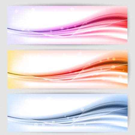 abstract background with waves and lines Illustration