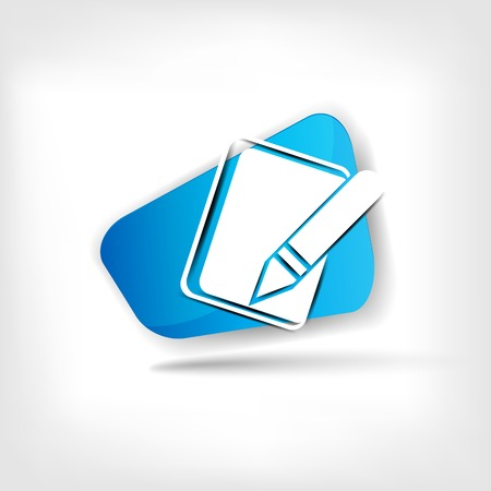 Notepad web icon Vector