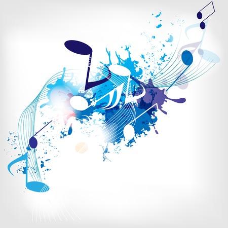 Abstrakten musikalischen Hintergrund mit Noten Standard-Bild - 23151308