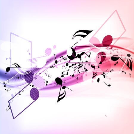 abstract musical background with notes Stock fotó - 23151312
