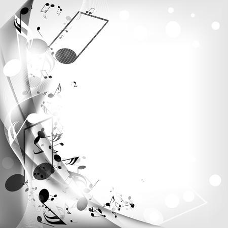 Fond musical abstrait avec des notes Banque d'images - 23151313