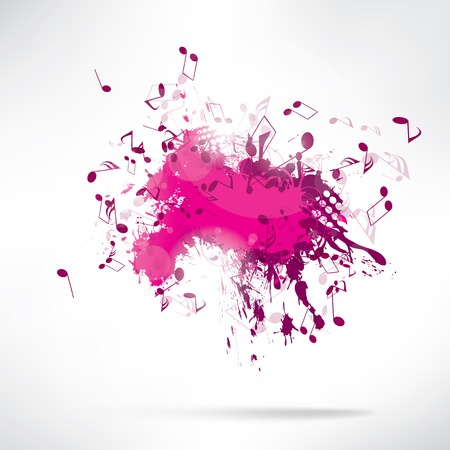 Abstract background notes and splatter Illustration