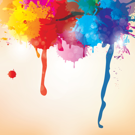 Splash on abstract background Vector