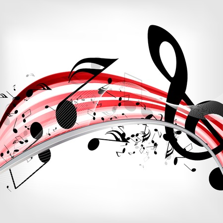 treble clef: abstract musical background with notes
