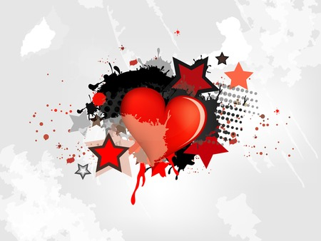 lovestruck: Grunge abstract background with heart