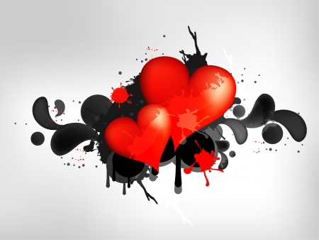 Grunge abstract background with heart Vector