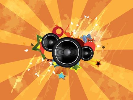 Grunge music background Vector