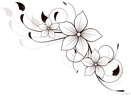 Élément de fleurs de printemps avec des remous