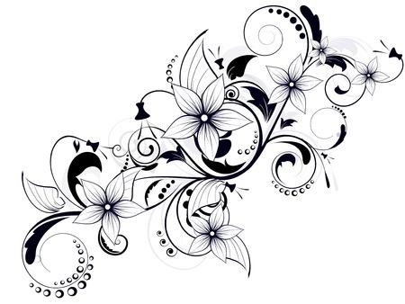 floral design element met wervelingen voor de lente