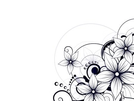 Abstract background with floral ornament elements Illustration