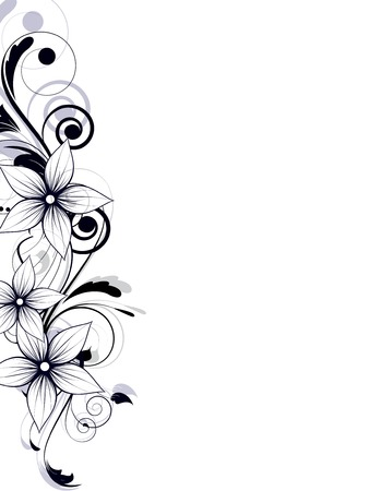floral ornament: Abstract background with floral ornament elements Illustration