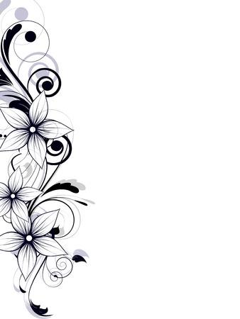 dise�os: Resumen de antecedentes con elementos de ornamentaci�n floral