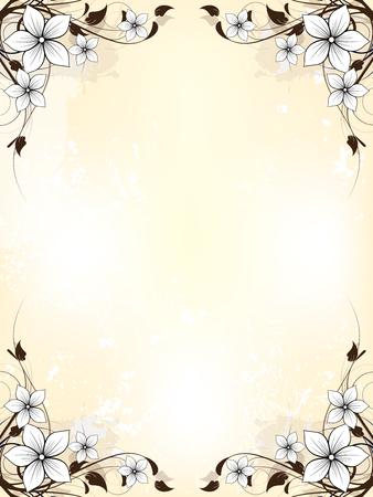 esquineros de flores: Fondo abstracto floral con flores
