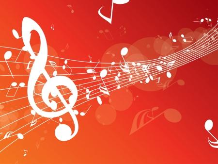 抽象的な音楽の背景  イラスト・ベクター素材
