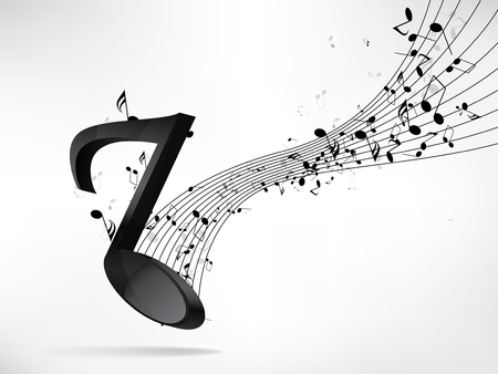 music note: Abstract music backgroud with notes Illustration