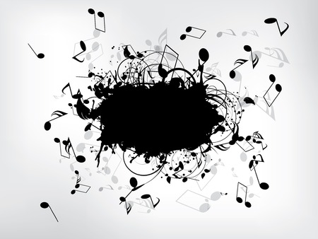 Music background with notes