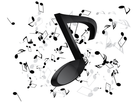 Music background with notes Stock Vector - 23152405