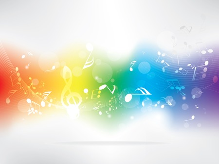 electronic music: Abstract music background with notes Illustration