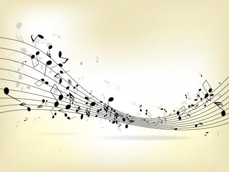 Arri?re-plan de musique abstraite avec notes  Vecteurs