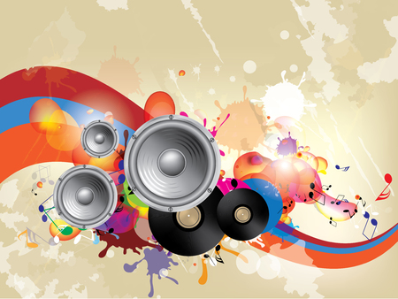 Musical abstract background Illustration