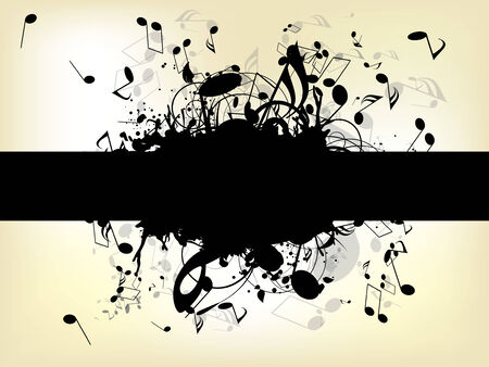 popular music: Abstract background with notes