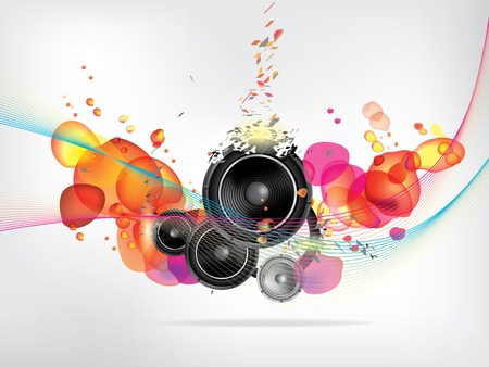 sub woofer: abstract music background Illustration