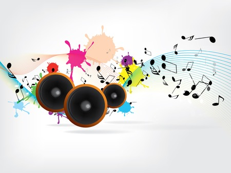 vinyl disk player: Abstract urban music background with grunge elements