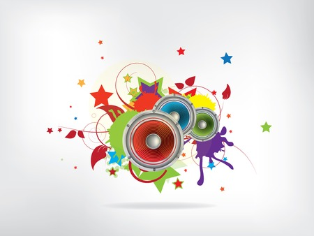 fond de musique abstraite avec haut-parleur de