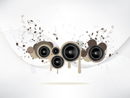 sub woofer: abstract music background with Sound Speaker