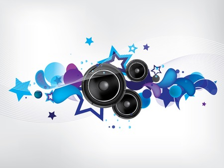 rock star: Music abstract background
