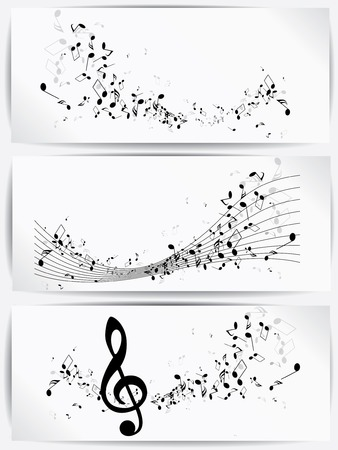 notes music: Musical abstract background Illustration