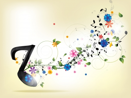 Abstract music backgroud with notes Illustration