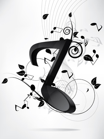 Abstract music backgroud with notes Stock Vector - 23152681