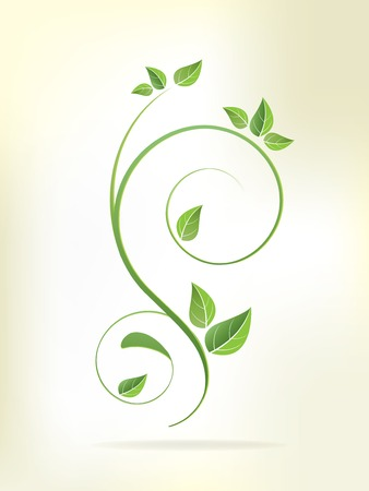 Floral background with flowers and swirls Stock Vector - 23158612