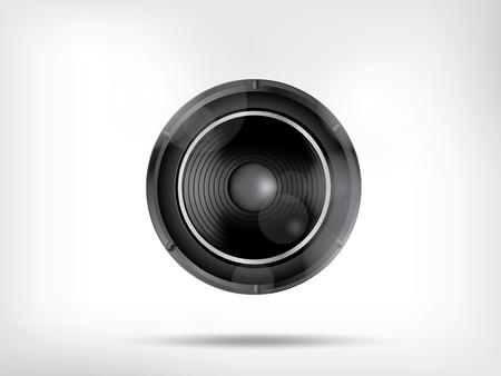 subwoofer: Musica di sottofondo con subwoofer Vettoriali