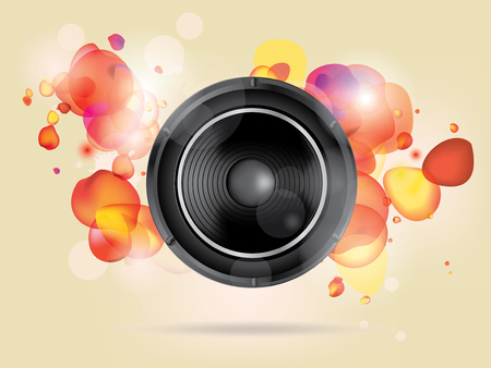 subwoofer: Music background with subwoofer
