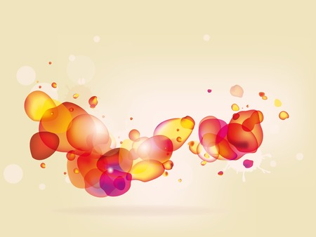 Colorful  abstract background with red yellow bubbles Vector