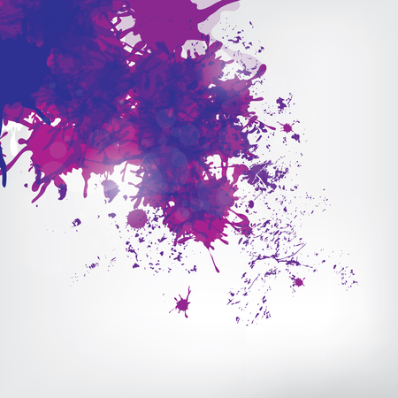 'paint splatter': Colored paint splashes  on abstract background