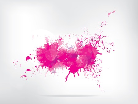 watercolor splash: Colored paint splashes  on abstract background
