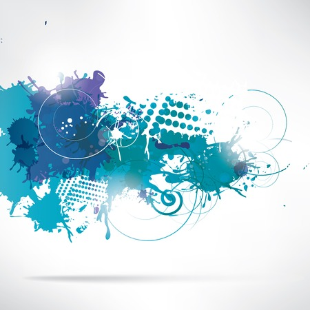 intensity: Abstract background with splash