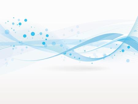 Vecteur de fond abstrait avec des vagues et des lignes Banque d'images - 23166314