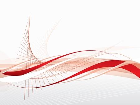 ベクトル波とラインで抽象的な背景  イラスト・ベクター素材