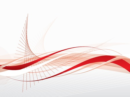 Vector abstract background with waves and lines Illustration